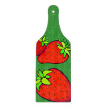 strawberries cutting boards