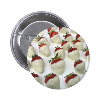 Strawberries dipped in white chocolate button