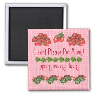 Strawberries dishwasher magnet