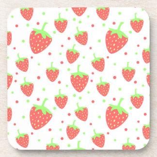 Strawberries Drink Coaster