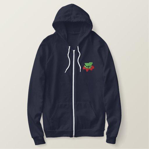 Strawberries Embroidered Hoodie