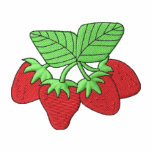 Strawberries Embroidered Hooded Sweatshirt