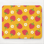 Strawberries & Flowers Mouse Pad