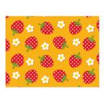 Strawberries & Flowers Postcard