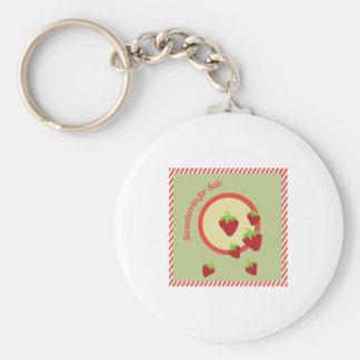 Strawberries For Sale Key Chain