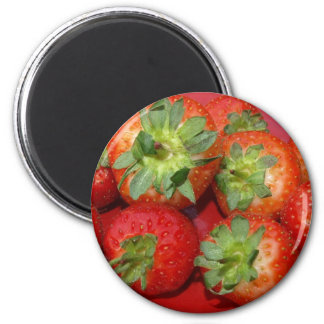 strawberries - fridge magnet