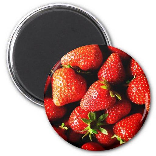 Strawberries Fridge Magnets
