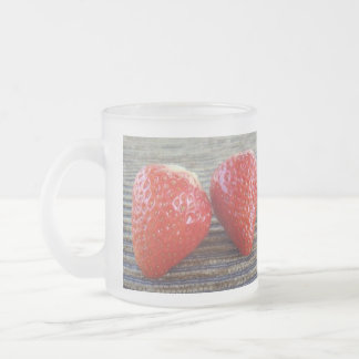 Strawberries - Frosted Glass Mug