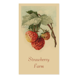 Strawberries fruit sales business cards