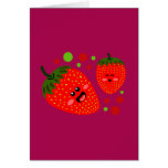 Strawberries Greeting Cards