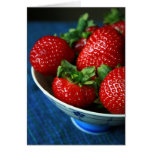 Strawberries in a Bowl Greeting Card