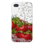 Strawberries in a red colander covers for iPhone 4