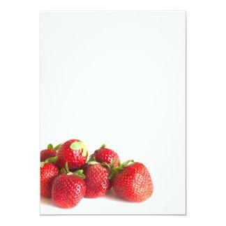 Strawberries 5x7 Paper Invitation Card