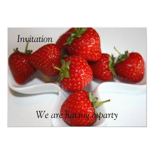 Strawberries Invitation