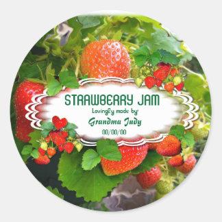 Strawberries Jam ~ Oval Sticker #3