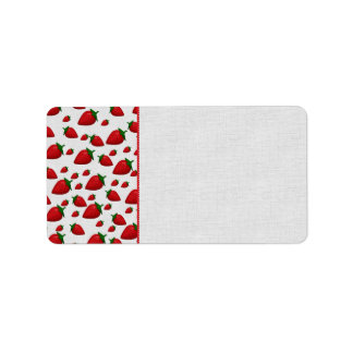 Strawberries Personalized Address Labels