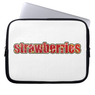 Strawberries Laptop Case (with fruit texture) Laptop Sleeve