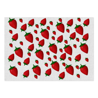 Strawberries Large Business Card