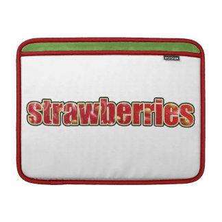 Strawberries Macbook Sleeve (with fruit texture)
