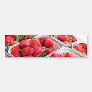 Strawberries market bumper sticker