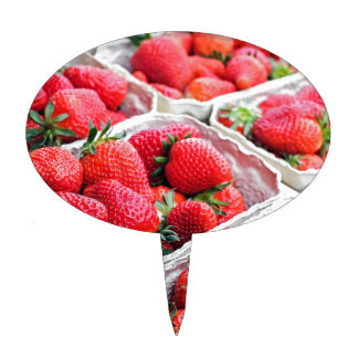 Strawberries market cake topper