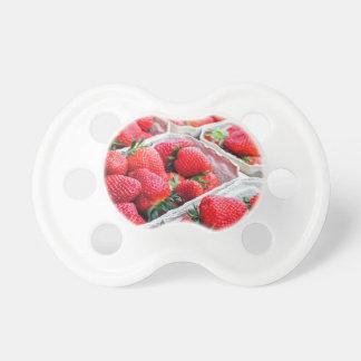 Strawberries market pacifier