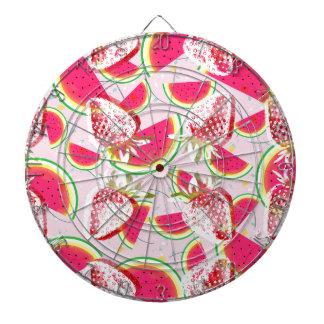 Strawberries Melon Fiesta Pattern Dartboard