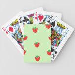 Strawberries Mint Green Bicycle Poker Deck