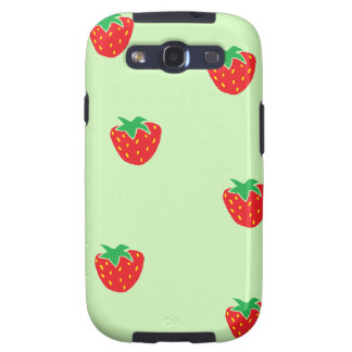 Strawberries Mint Green Galaxy S3 Cover