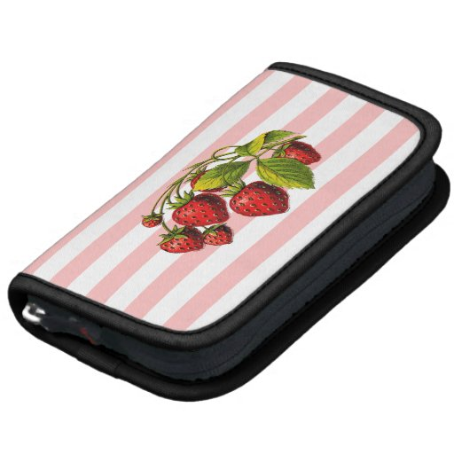 Strawberries on Pink and White Stripes Planners