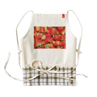 Strawberries painting zazzle HEART apron