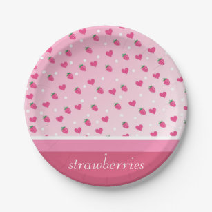 strawberries paper plate  sc 1 st  Zazzle : strawberry shaped paper plates - pezcame.com