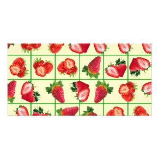 Strawberries pattern card