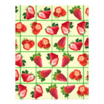 Strawberries pattern flyer