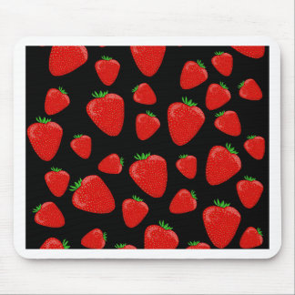 Strawberries pattern mouse pad