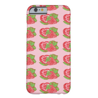 Strawberries Pattern Pink iPhone 6 Case