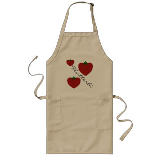 Strawberries personalized long apron