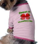 Strawberries pet clothing