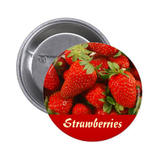Strawberries Pinback Button