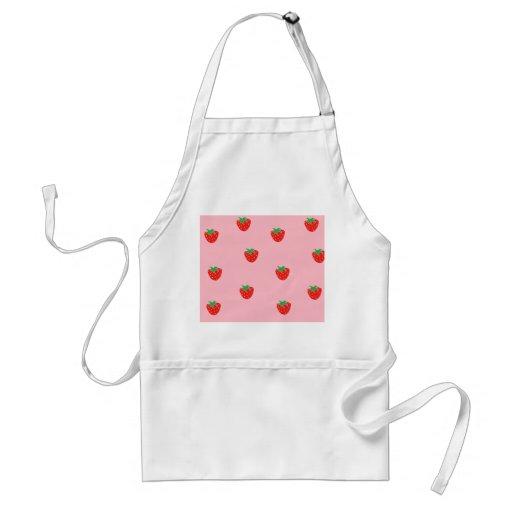 Strawberries Pink Adult Apron