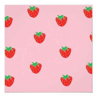 Strawberries Pink Card