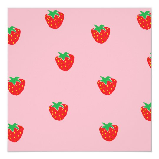 Strawberries Pink Card