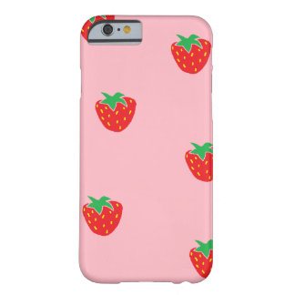 Strawberries Pink Barely There iPhone 6 Case