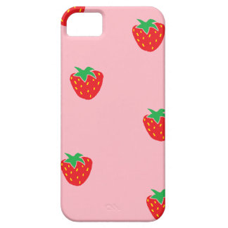 Strawberries Pink iPhone 5 Cases