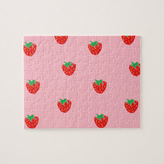 Strawberries Pink Jigsaw Puzzle