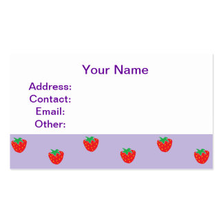 Strawberries Purple Business Card