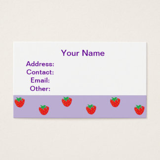 Strawberries Purple Business Card