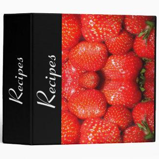 Strawberries Recipes Binder