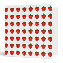Strawberries Red Fruit Berry Farm Summer Produce 3 Ring Binder