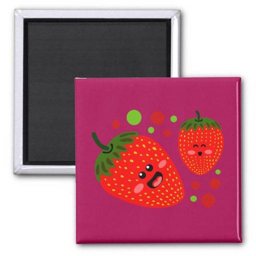 Strawberries Refrigerator Magnets